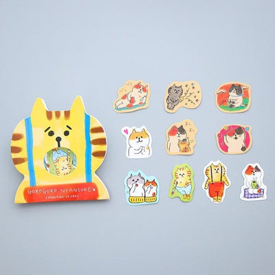 Kawaii meow Orange cat Kawaii Cat Stickers