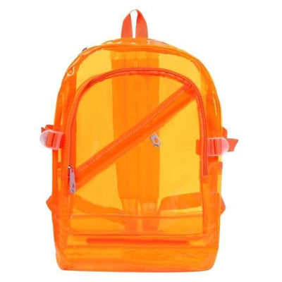 Kawaii meow Orange Fashion Hologram Backpack