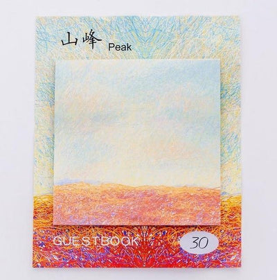 Kawaii meow Peak Painting Memo Pad Sticky