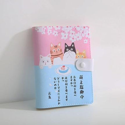 Kawaii meow Pink / 105 x148mm Cute Japanese Notebook