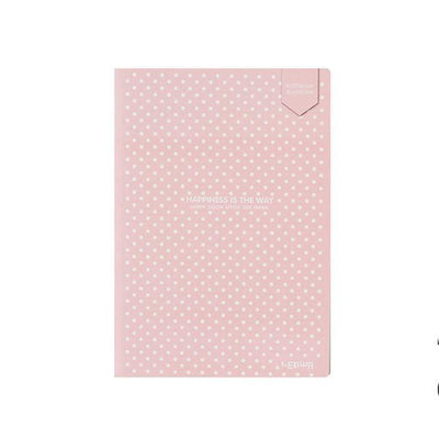 Kawaii meow Pink / 140x208mm Dot Grid Notebook Stationery Lattice Creative Journaling Book Simple Soft Cover Dotted Bullet Journal Bujo