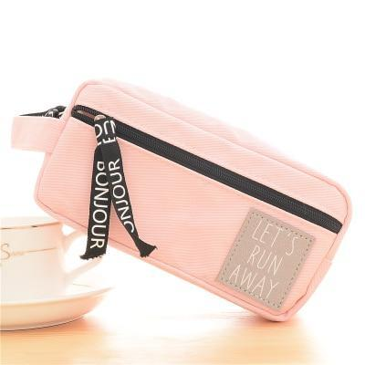 Kawaii meow Pink Canvas Pencil Case