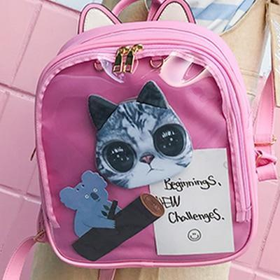 Kawaii meow Pink / China / 15 Inches Cat Ear Backpack