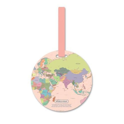 Kawaii meow Pink Fashion Map Luggage Tag
