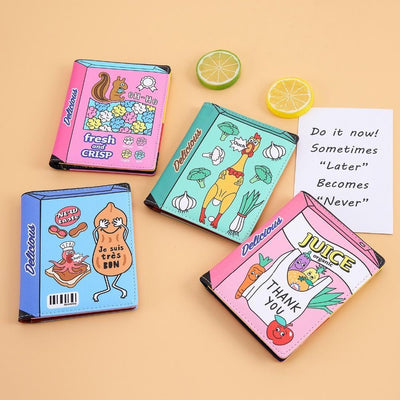 Kawaii meow Pink juice Fashion Cartoon Passport Holder Cover