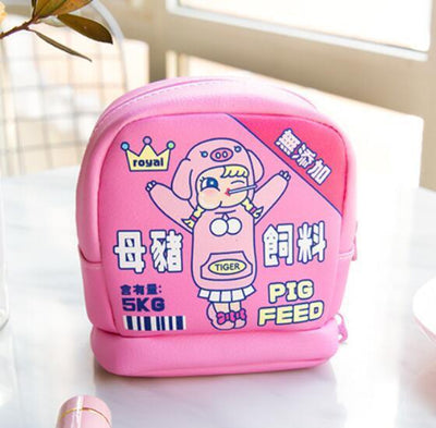Kawaii meow Pink Kawaii Makeup Bag