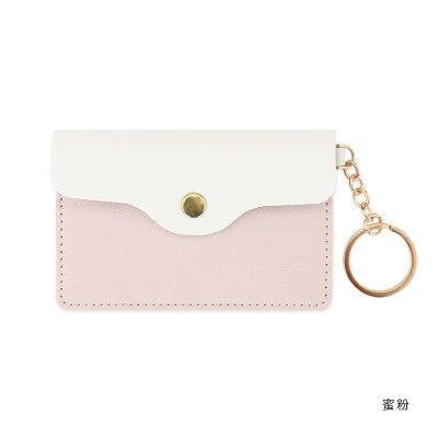 Kawaii meow Pink PU Leather Card Holder