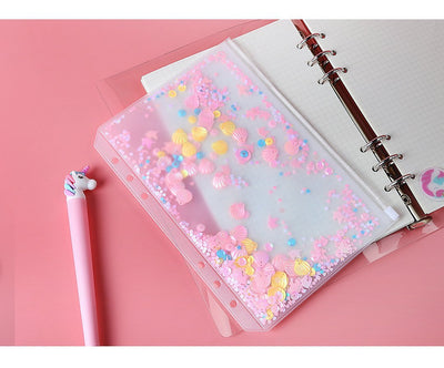 Kawaii meow Pink Shake bag / A5 Shake Card Zipper Bag