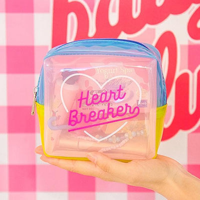 Kawaii meow Pink Summer Jelly Cosmetic Bag