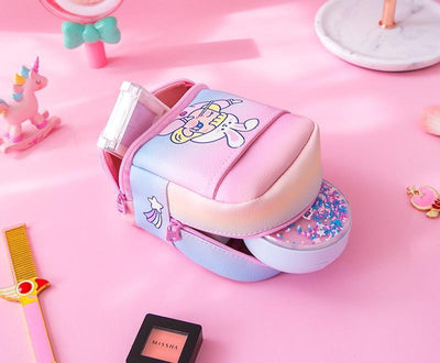 Kawaii meow Purple Kawaii Makeup Bag