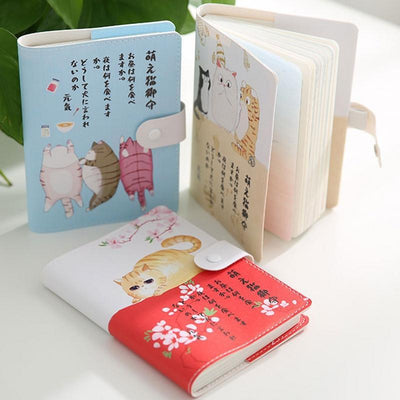 Kawaii meow Red / 105 x148mm Cute Japanese Notebook
