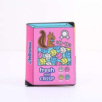 Kawaii meow Rose Fashion Cartoon Passport Holder Cover