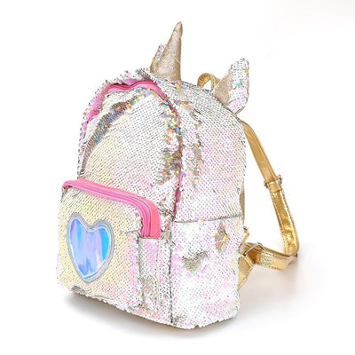 Kawaii meow Silver Cute Unicorn Schoolbag