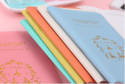 Kawaii meow Sky Blue Travel Passport Cover