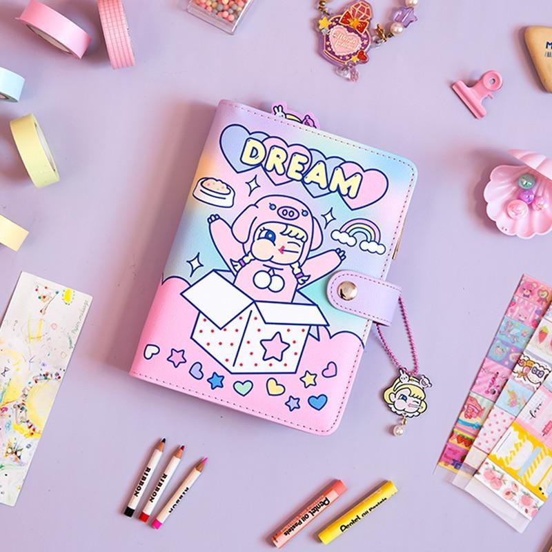 photo about Diy Planner Organizer called Korean Spiral Diary