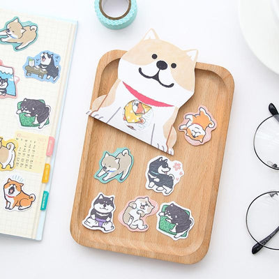 Kawaii meow Style 1 Creative cute Shiba Inu dog Decorative Washi Stickers Scrapbooking Stick Label Diary Stationery Album Stickers