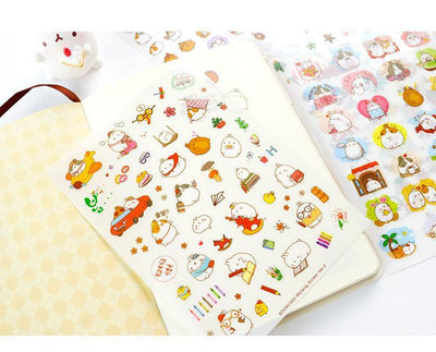 Kawaii meow Style 1 Korean  Cute Lovely Sticker Notebook DIY Decoration Sticky Album Diary Scrapbooking sticker for kids Stationery Stickers