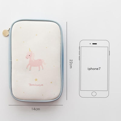 Kawaii meow Style 1 Lucky unicorn zipper pencil bag