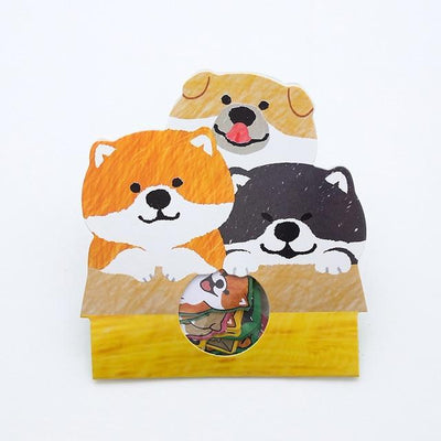 Kawaii meow Style 4 Creative cute Shiba Inu dog Decorative Washi Stickers Scrapbooking Stick Label Diary Stationery Album Stickers