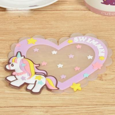 Kawaii meow Style 7 Kawaii Cartoon Animals Unicorn Tableware Cup Pads Mats.Silicone Table Placemats Kitchen Dinnerware Mat.Coasters.Insulation Pad