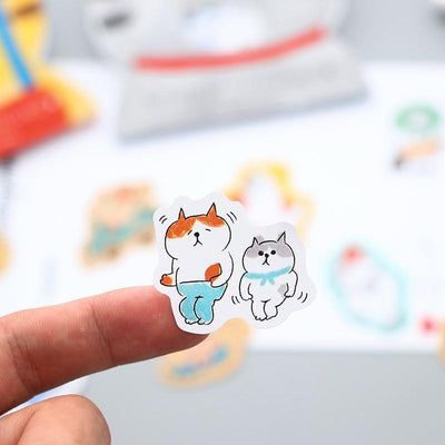 Kawaii meow Tricolor cat Kawaii Cat Stickers