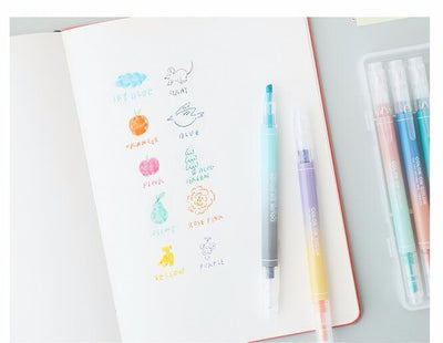 Kawaii meow Twin plus pen 10 colors highlighter sweet color stationery