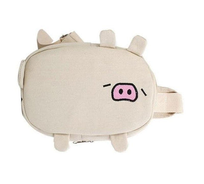 Kawaii meow white / 25cm Cute Pig Mini Bag