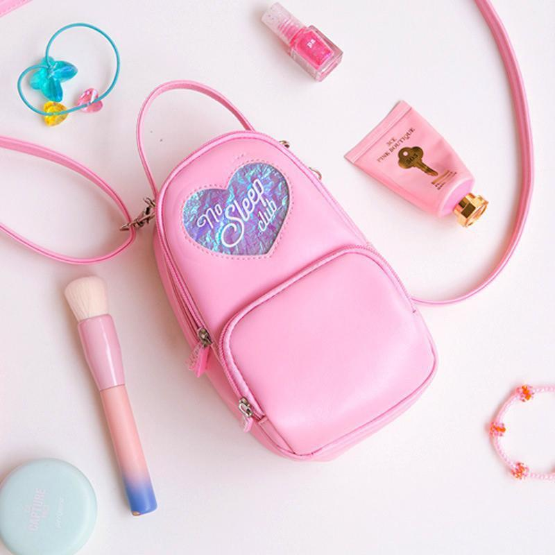 Kawaii meow White Heart Crossbody Backpack