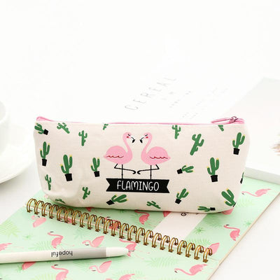 Kawaii meow White Hello Summer Tropical Pencil Cases