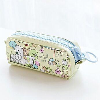 Kawaii meow Yellow Kawaii Zipper Pencil Case