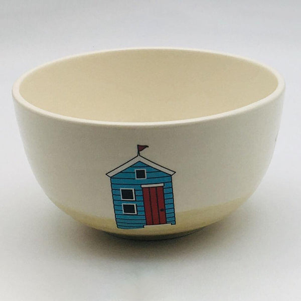 Hand painted cereal bowl inspired by sunny days at the beach. 14.5cm by 8cm.