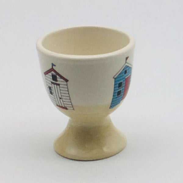 Hand painted egg cup inspired by sunny days at the beach. 5.5cm by 6.5cm.