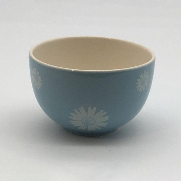 Beautiful blue pastel coloured cereal bowl. Hand painted by our artisans. 14.5cm by 8cm.