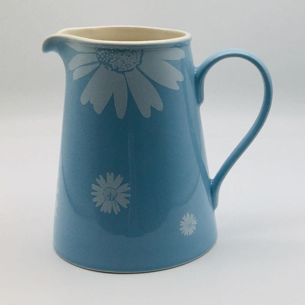 Beautiful blue pastel coloured large jug. Hand painted by our artisans. 13cm by 20cm.