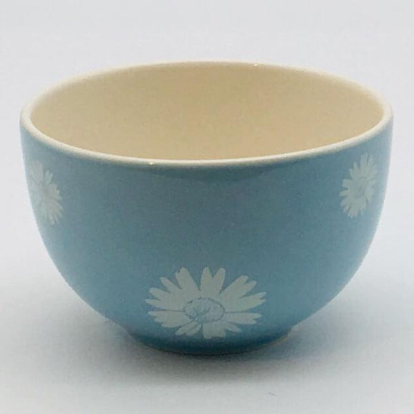 Beautiful blue pastel coloured cereal bowl. Hand painted by our artisans. 10cm by 6.5cm.