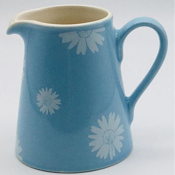 Beautiful blue pastel coloured small jug. Hand painted by our artisans. 8cm by 9.5cm.