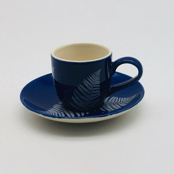 Beatifully hand painted espresso cup and saucer inspired by our love of all things floral. 6cm cup,  5.5cm saucer.