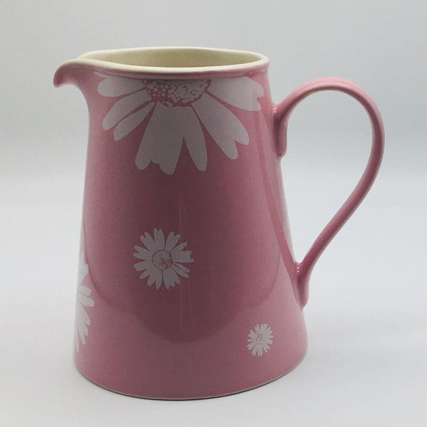 Beautiful pink pastel coloured large jug. Hand painted by our artisans. 13cm by 20cm.