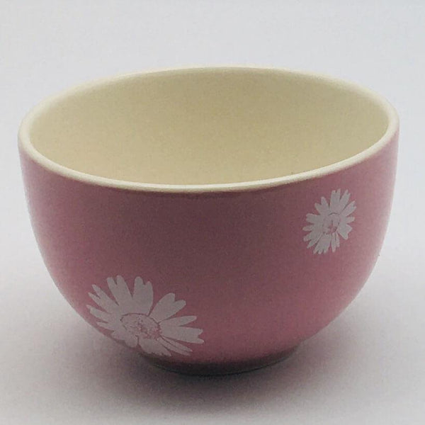 Beautiful pink pastel coloured cereal bowl. Hand painted by our artisans. 10cm by 6.5cm.
