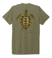 Load image into Gallery viewer, Colin Thompson, Turtle, Crew Neck T-Shirt in Earthy Green