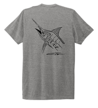 Load image into Gallery viewer, Colin Thompson, Marlin, Crew Neck T-Shirt in Oyster Grey