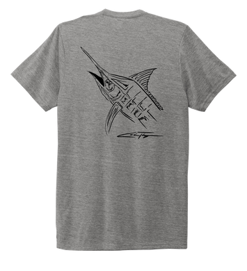 Colin Thompson, Marlin, Crew Neck T-Shirt in Oyster Grey