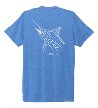 Load image into Gallery viewer, Colin Thompson, Marlin, Crew Neck T-Shirt in Sky Blue