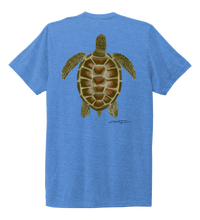 Load image into Gallery viewer, Colin Thompson, Turtle, Crew Neck T-Shirt in Sky Blue