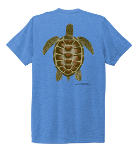 Colin Thompson, Turtle, Crew Neck T-Shirt in Sky Blue