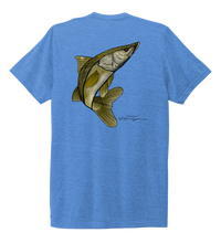Load image into Gallery viewer, Colin Thompson, Snook, Crew Neck T-Shirt in Sky Blue
