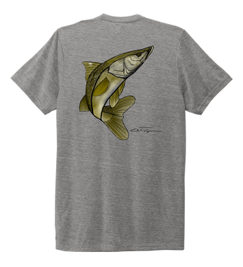 Colin Thompson, Snook, Crew Neck T-Shirt in Oyster Grey