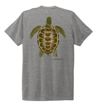 Load image into Gallery viewer, Colin Thompson, Turtle, Crew Neck T-Shirt in Oyster Grey