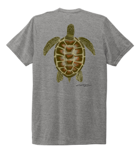 Colin Thompson, Turtle, Crew Neck T-Shirt in Oyster Grey