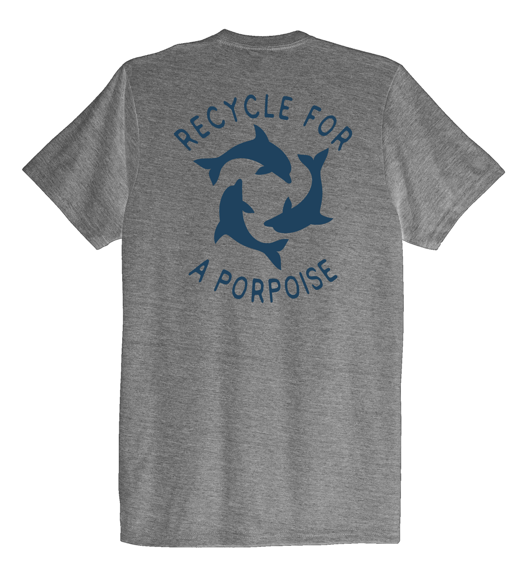 StepChange, Porpoise, Unisex Crew Neck T-shirt in Oyster Grey